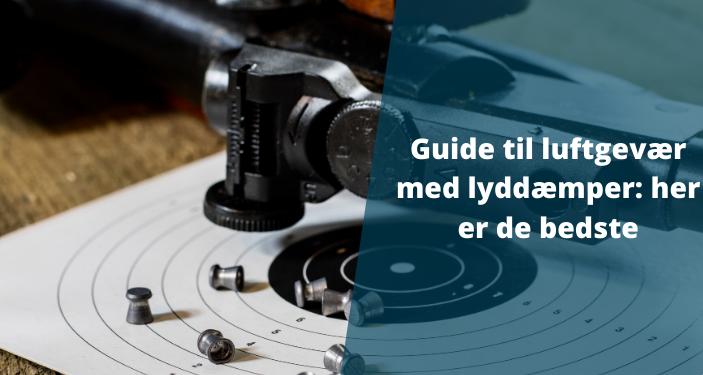 Luftgevær med lyddæmper: Stor guide til brug & regler om løse og integrerede